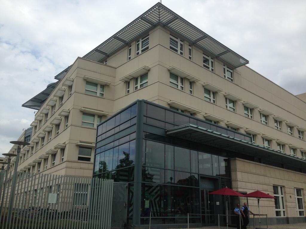 Die amerikanische Botschaft. 2008 erbaut.